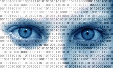 Binärcode-Gesicht